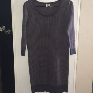 Frenchi Houndstooth Sweater Dress
